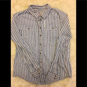 💙GUESS SEXY STRIPED BUTTON DOWN 💙